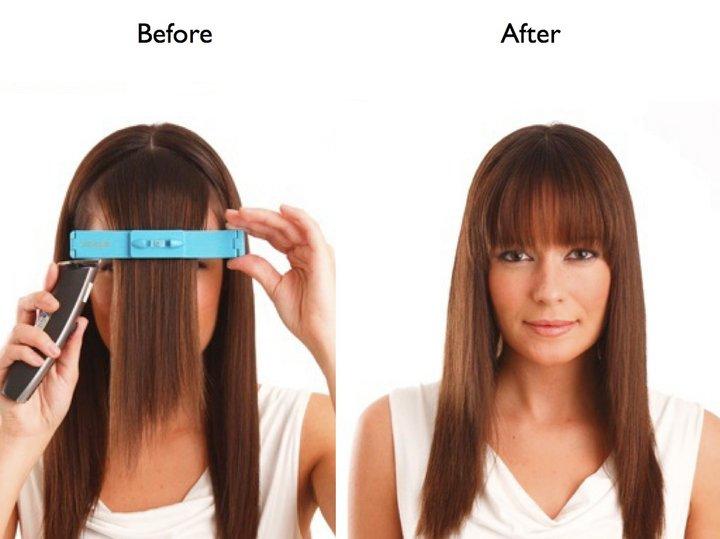 Как сделать чёлку не обрезая волосы