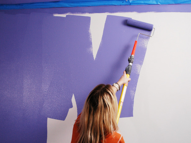 how to paint the wall using the w method