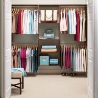 small organized closet