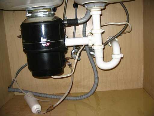 dishwasher drain under the sink
