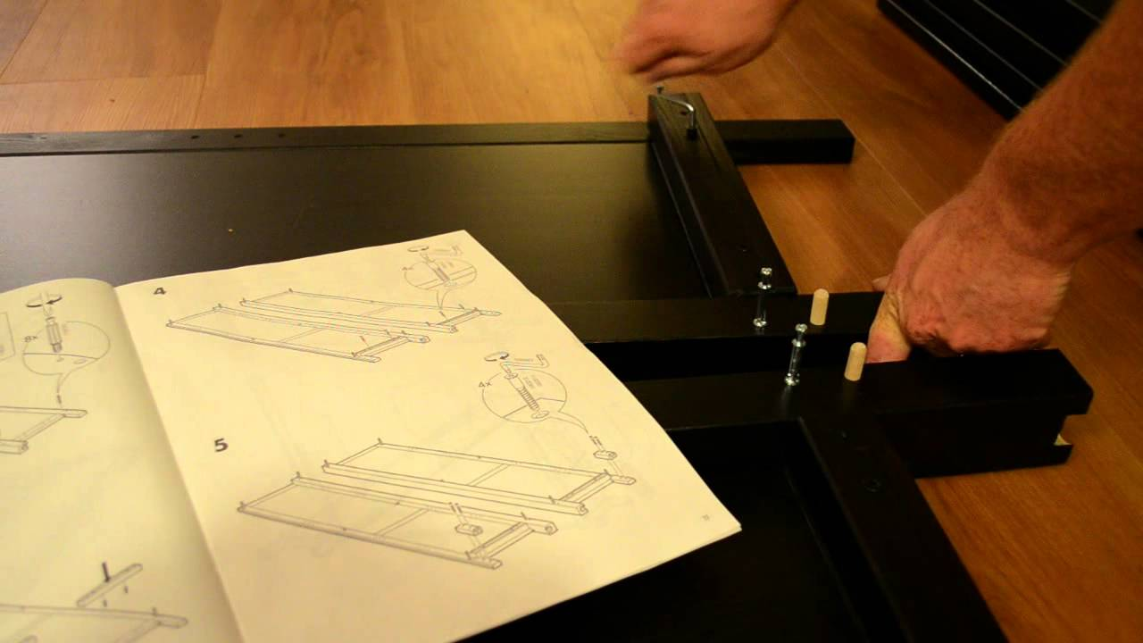 pieces of ready-to-assemble furniture with instructions