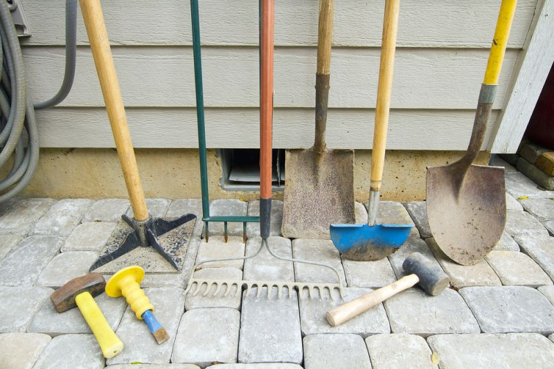 How to build a stone patio on your own hirerush blog for Garden tools manufacturers