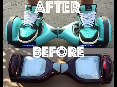 hoverboard before and after painting