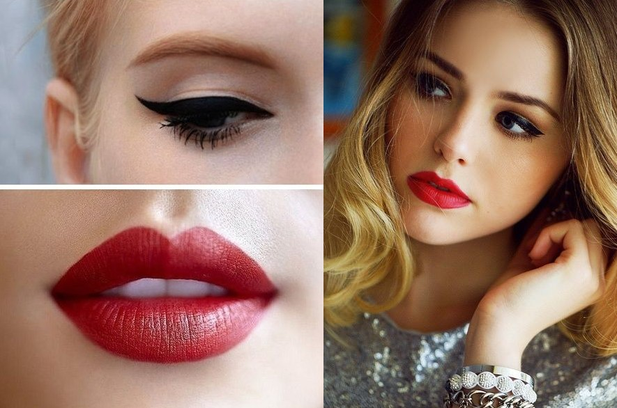 Valentine's Day makeup red lips