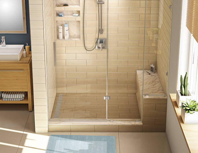 Beige Tiled Shower