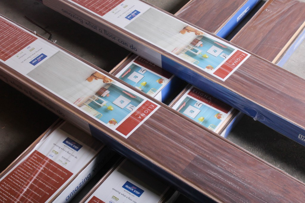 boxes of laminate