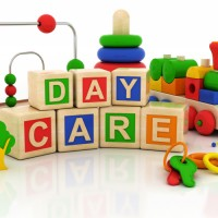 daycare word out of toy cubes