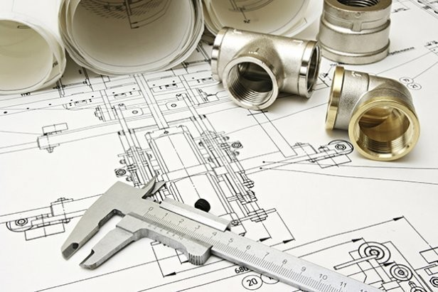 House Plan On Paper And Plumbing Tools