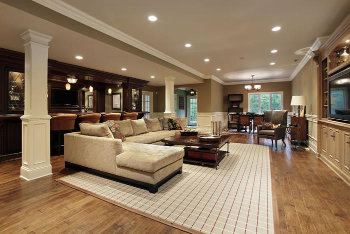 furnished basement