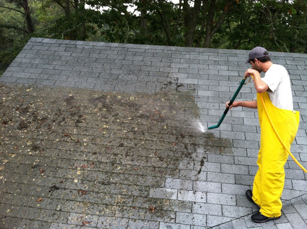 Man Washing Roof