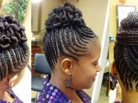 African American hairstyles: box braids + cornbraids
