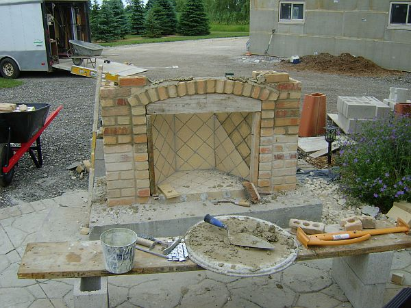 unfinished outdoor fireplace