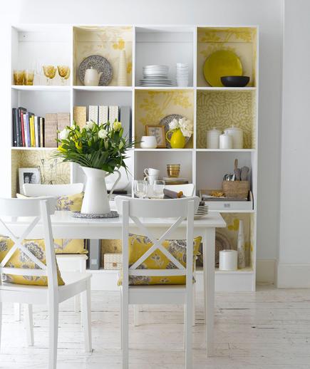 Kitchen Shelves Floral Decor
