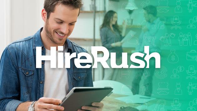 hirerush homepage banner