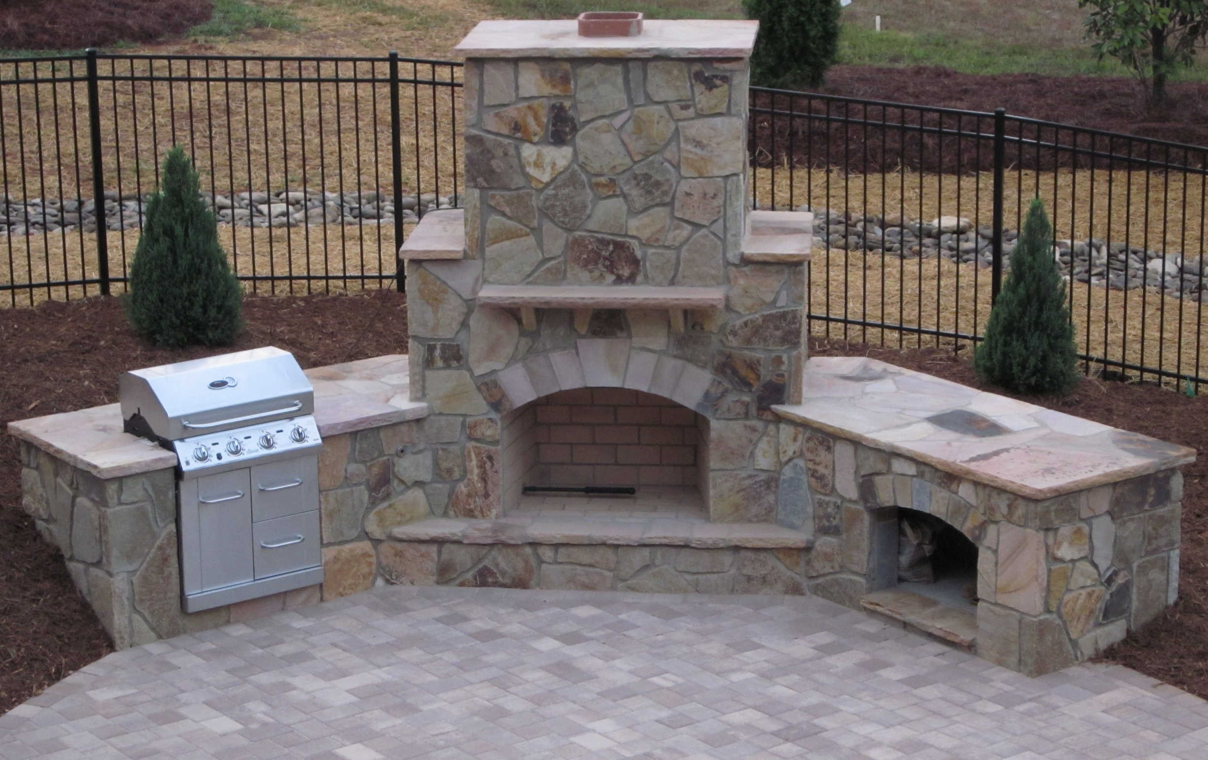 How to build an outdoor fireplace step by step guide Granite a frame plans