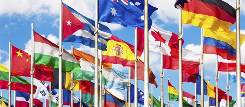 world flags language
