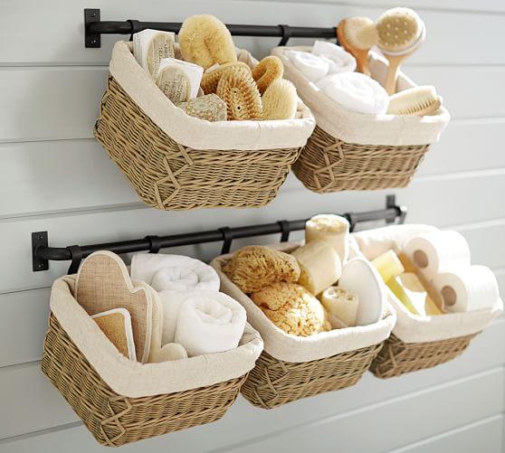 Bathroom Decor Ideas With Baskets 15 easy bathroom decorating ideas | hirerush