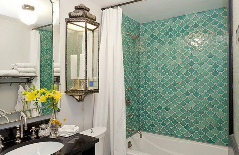 accent tile in bathroom decorating