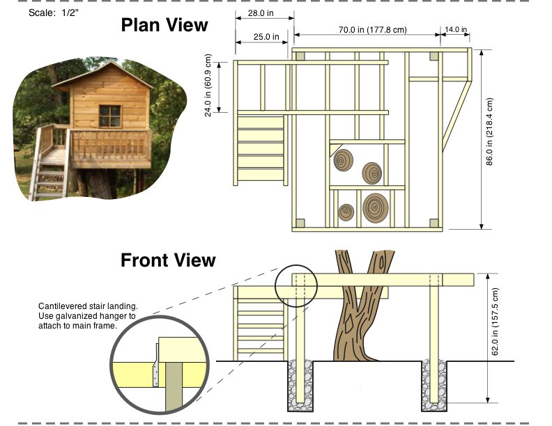 How to build a tree house 5 tips for building kids treehouse House plan drawing