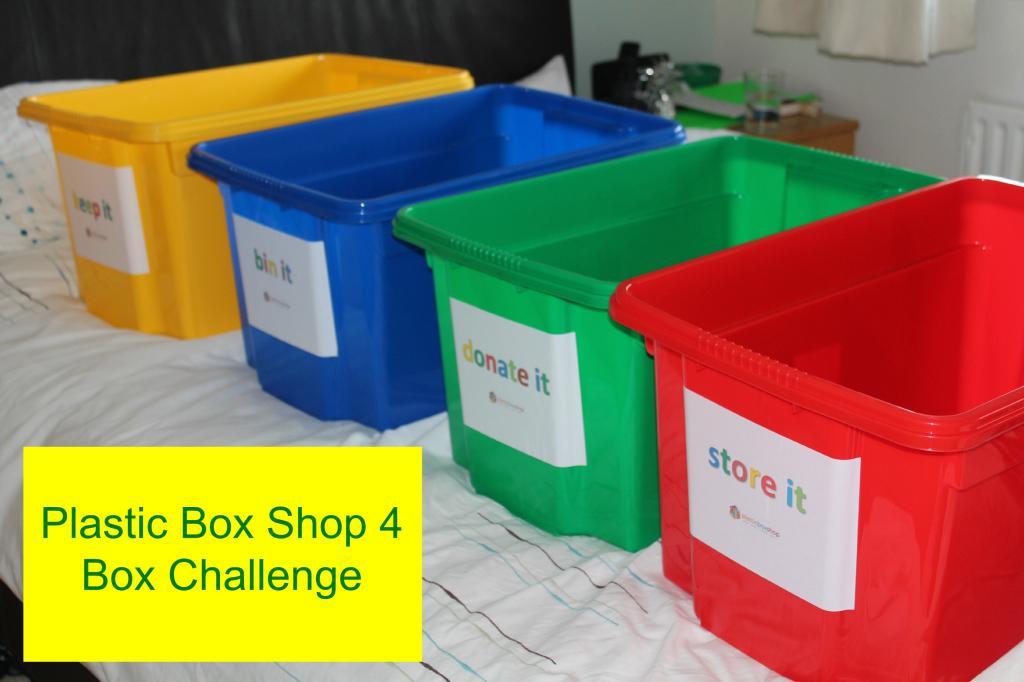 4 box decluttering challenge