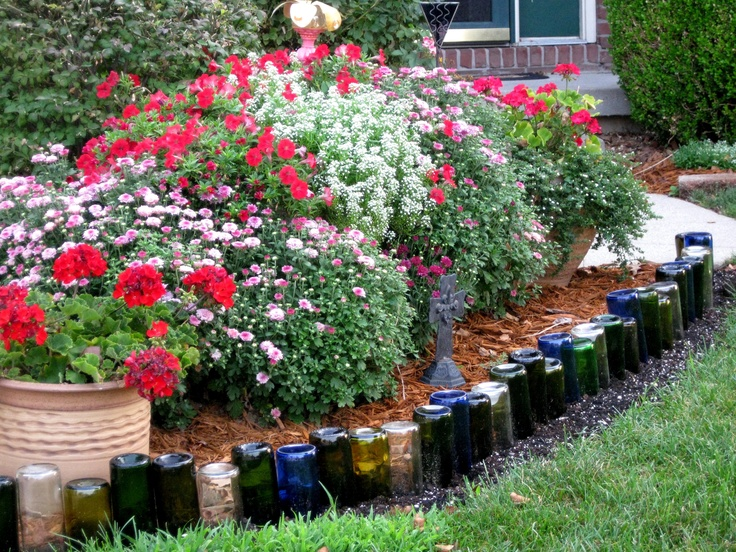 ... Bottle Edges For A Flower Bed Garden Decor