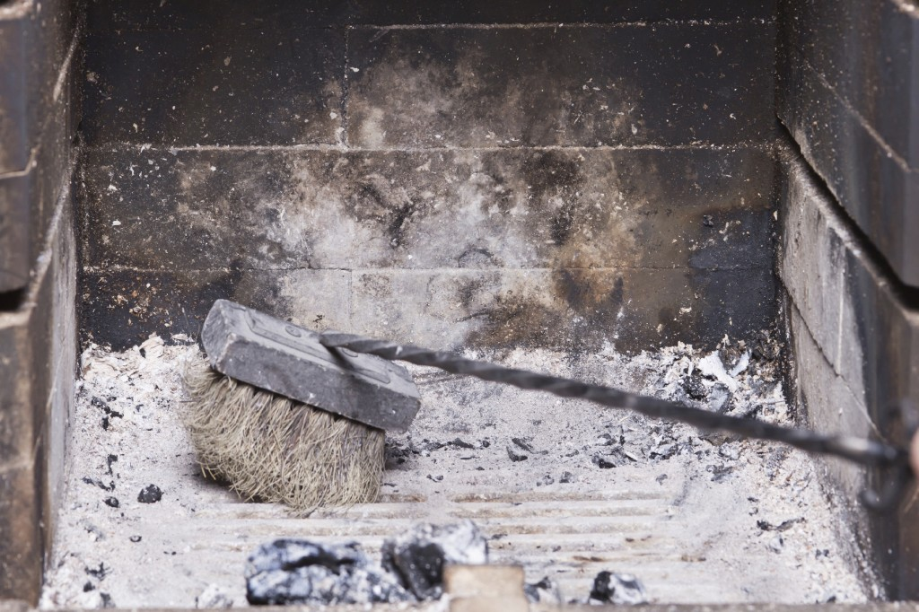 How to clean a fireplace. 10 steps of cleaning a brick fireplace ...