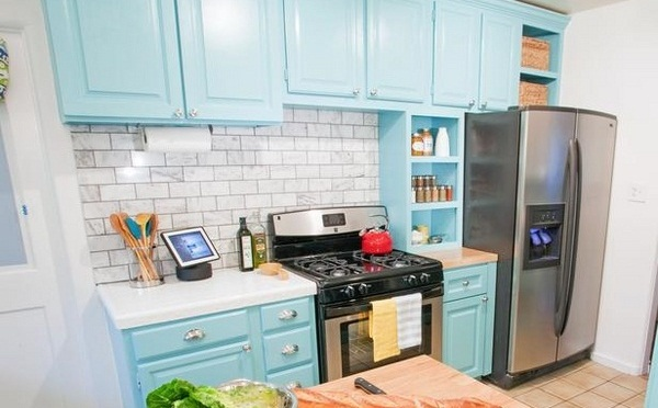 Kitchen Cabinets Painted Baby Blue