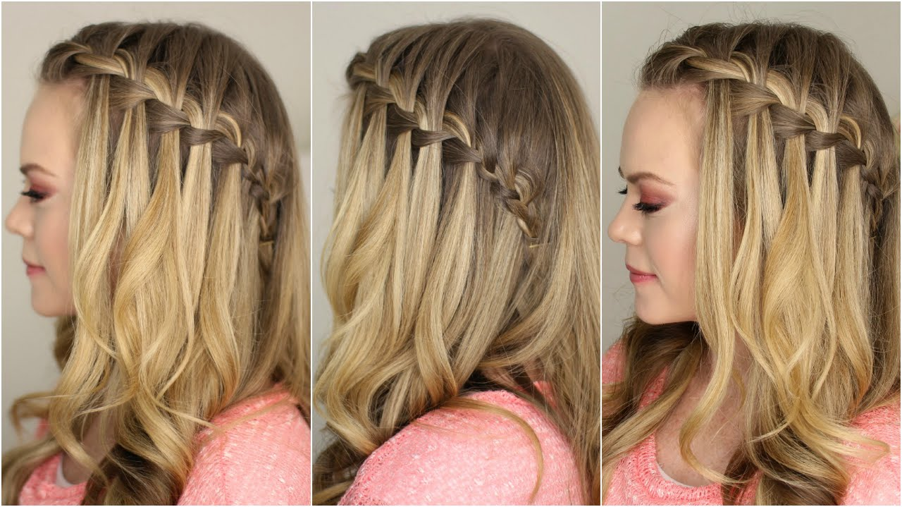Brilliant How To Do A Waterfall Braid For Prom Braids Short Hairstyles Gunalazisus