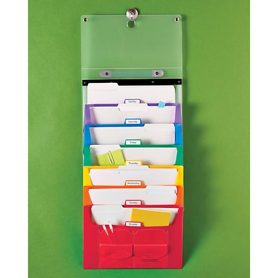 hanging file tote to organize office mail
