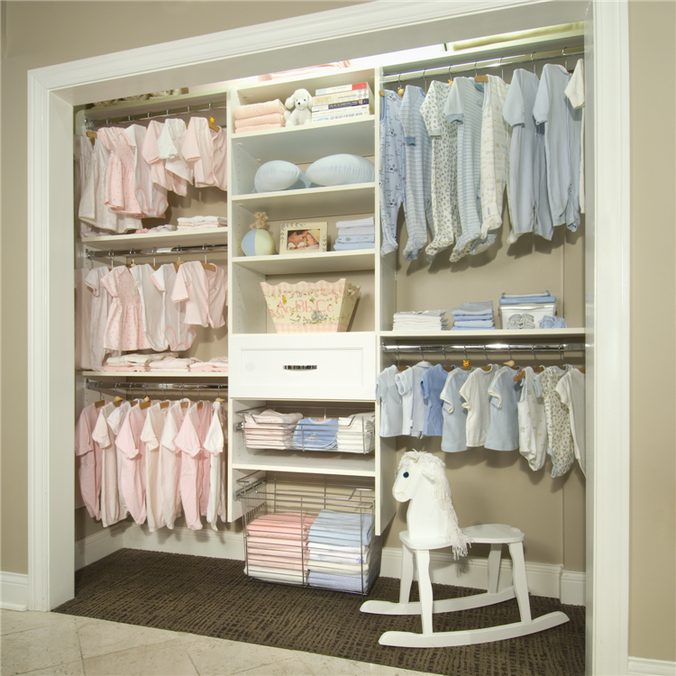 Multiple Racks In Nursery Baby Closet