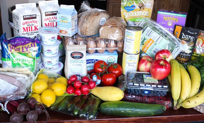 clean eating groceries