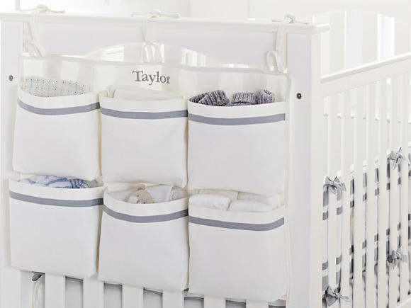 Crib Pocket Storage For Nursery