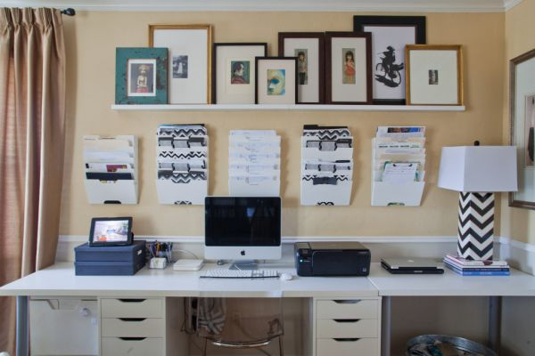 Organized Office Desk And Area