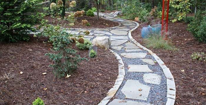 How to lay a flagstone path hirerush blog flagstone path in garden solutioingenieria Images