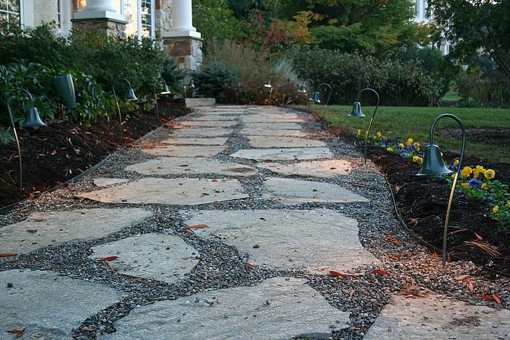 ... Flagstone And Crushed Stone Path