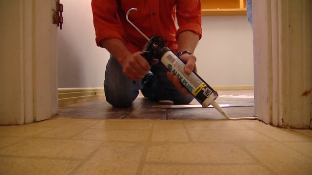 5 easy steps of vinyl flooring installation hirerush blog for Stick on linoleum floor