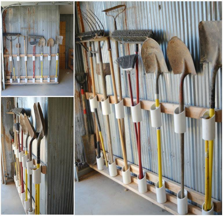 10 diy home storage ideas hirerush blog for Garden tool storage ideas