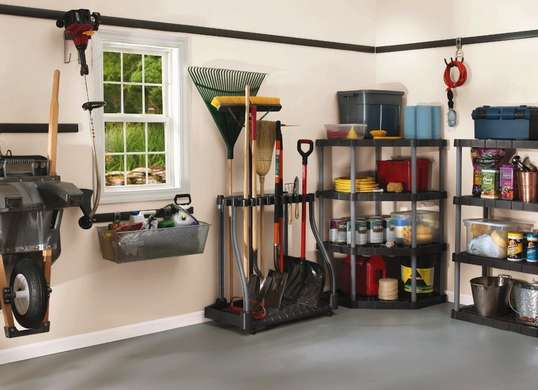 15 neat garage organization ideas hirerush blog for Garden tool storage ideas