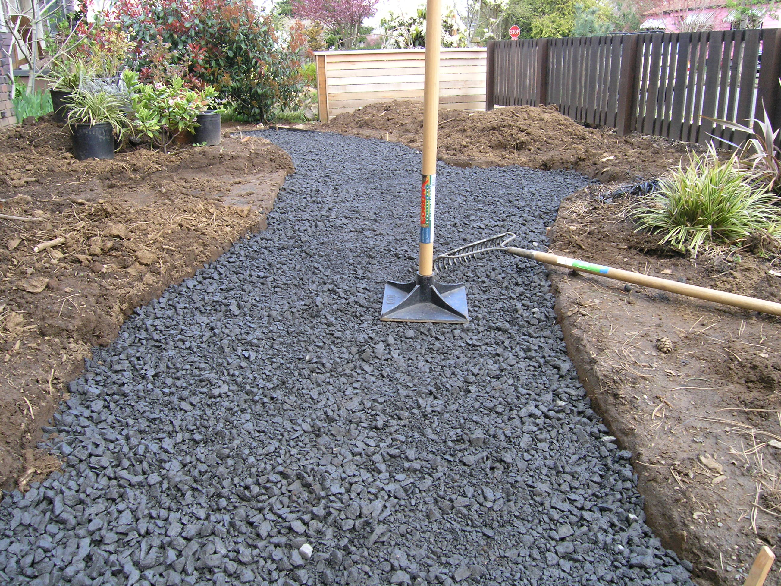 Crushed Stone Walkways : How to lay a flagstone path hirerush