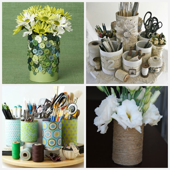 10 diy home storage ideas hirerush blog for Aluminum can decorations