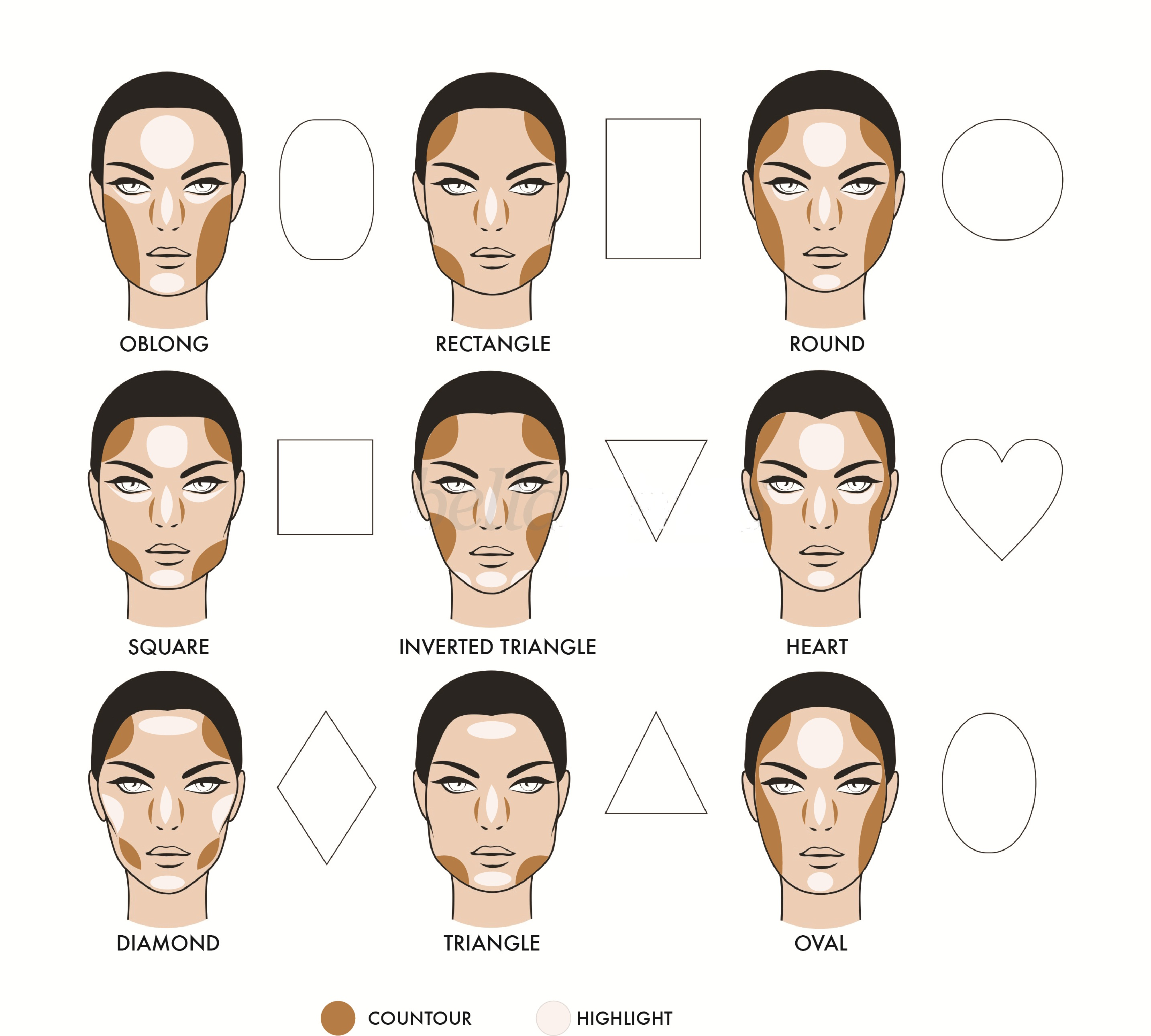 Facial makeup contouring lessons tes teach how to contour your face hirerush blog baditri Images
