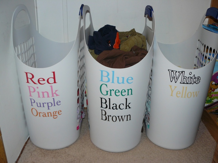 13 clever laundry room organization ideas hirerush blog - Whites and darks laundry basket ...