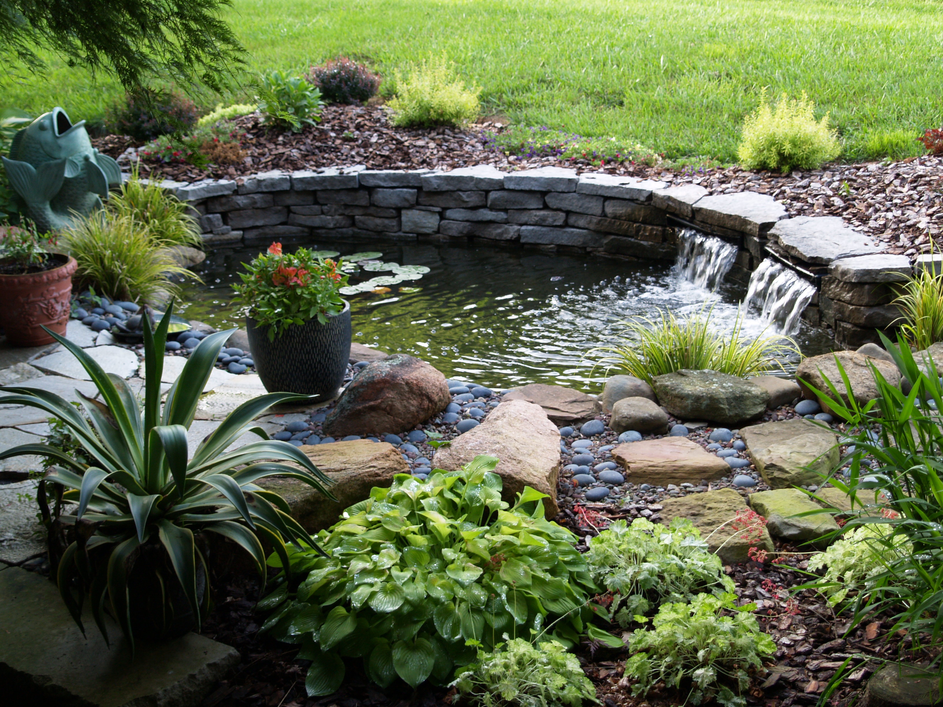 Garden Pond Beautiful Backyard Ponds For Decorating