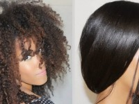 How to straighten curly afro hair