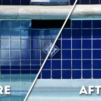 before/after pool cleaning