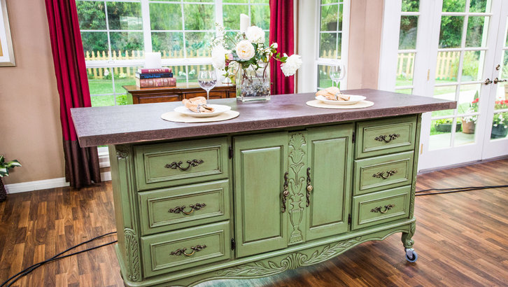 turn old dresser into kitchen island 10 repurposed furniture ideas hirerush 9496