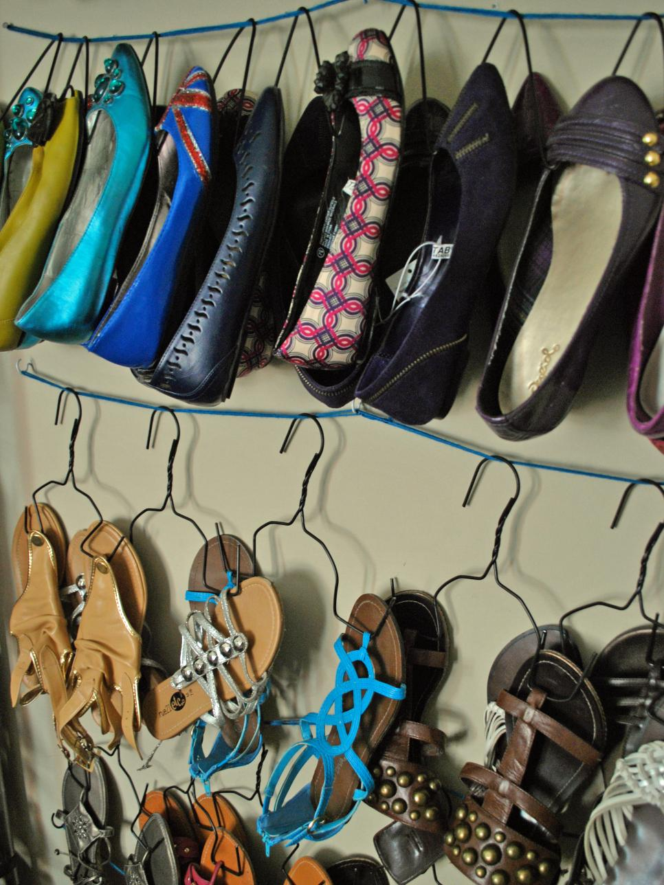 ... Your Flats. Diy Storage For Summer Shoes