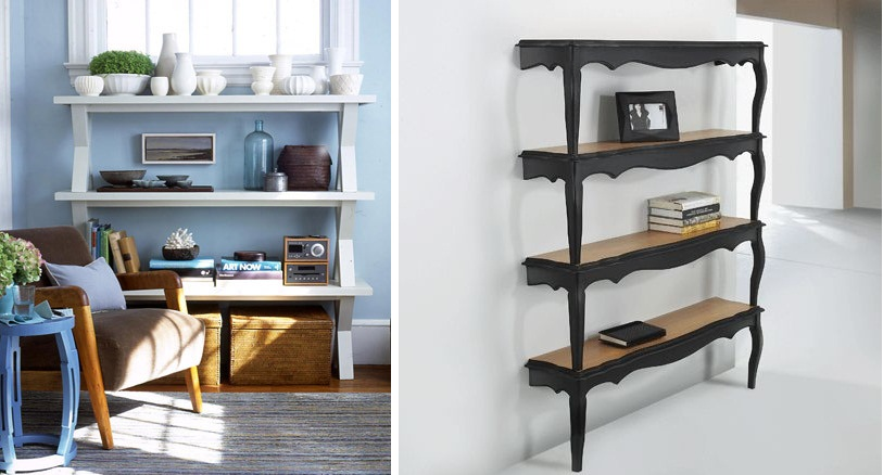 Diy Stacked Bench Shelves Repurposed Furniture Idea