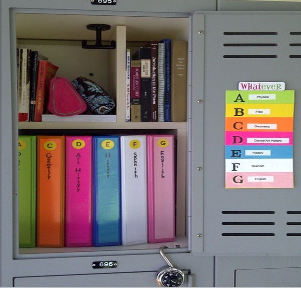 How To Organize Your Locker