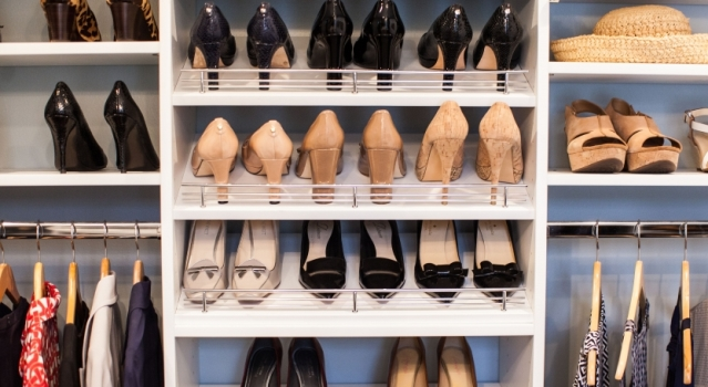 Organized Shoe Rack In Closet And Mud Room